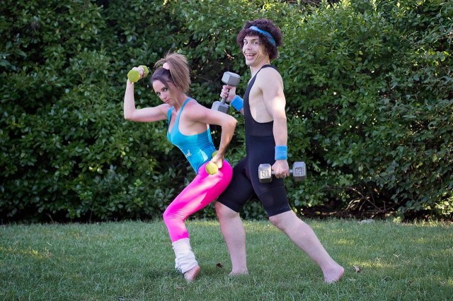 funny jazzercise couple