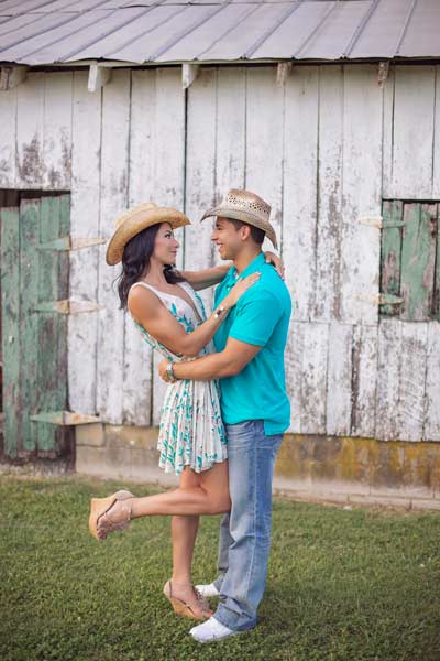 Cute Engagement Shoot with Cowboy Hats