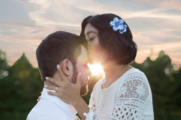 Engagement Photos during the Sunset in Franklin, TN