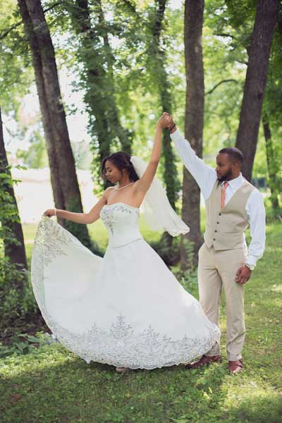 Beautiful Wedding in the Forest of Franklin TN