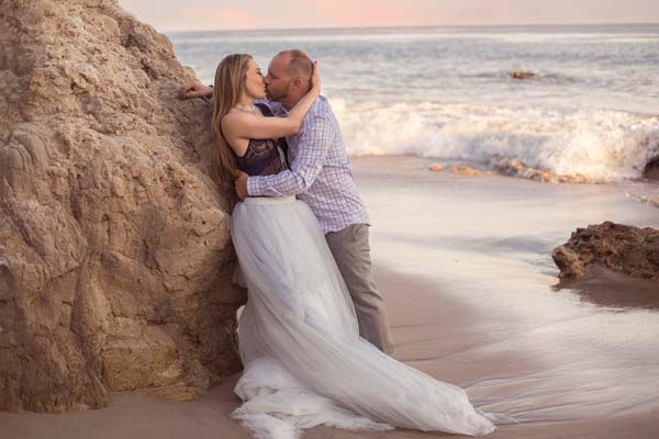 Couple Kissing in Malibu