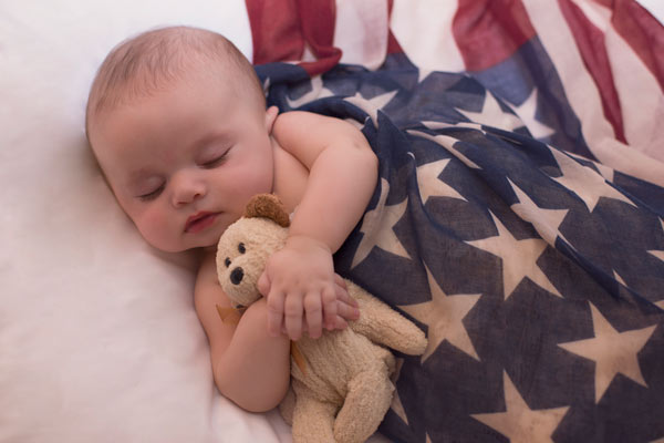 American Flag Newborn Photos