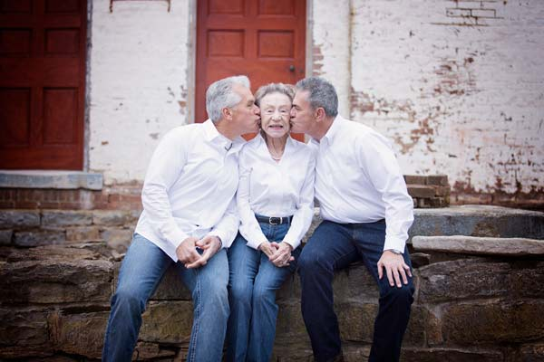 Boys Kissing their Sweet Momma
