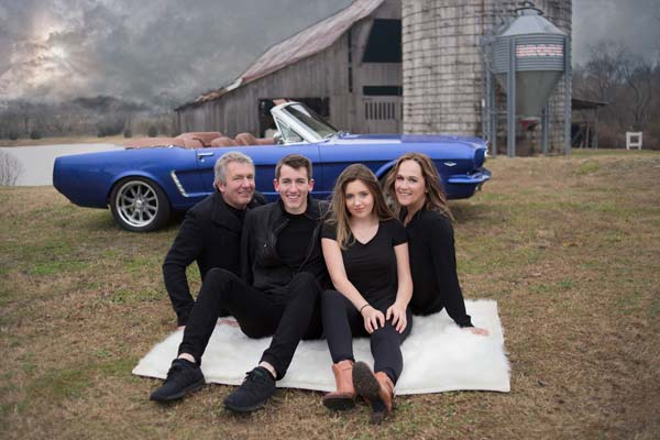 Family and their Custom Built Mustang