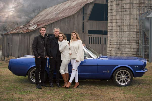 Family and their Custom Built 65 Mustang