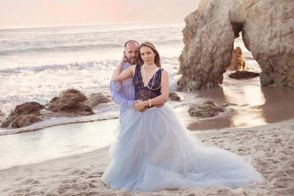 Beautiful Couple on the Beach in Malibu