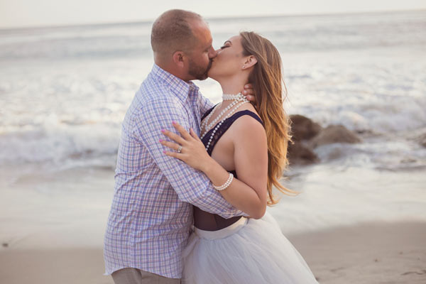 Beautiful Couple on the Beach in Matador beach