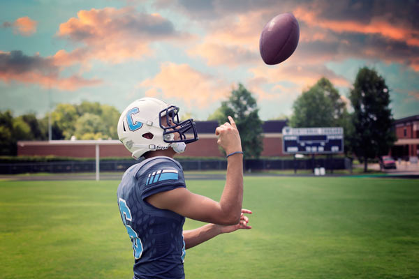 Senior Photos for Centennial HS Football Player